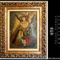 Arte: FABULOSO CUADRO PINTURA ANTIGUA OBRA DE ARTE COLONIAL ESCUELA DE CUZCO. Lote 184370023