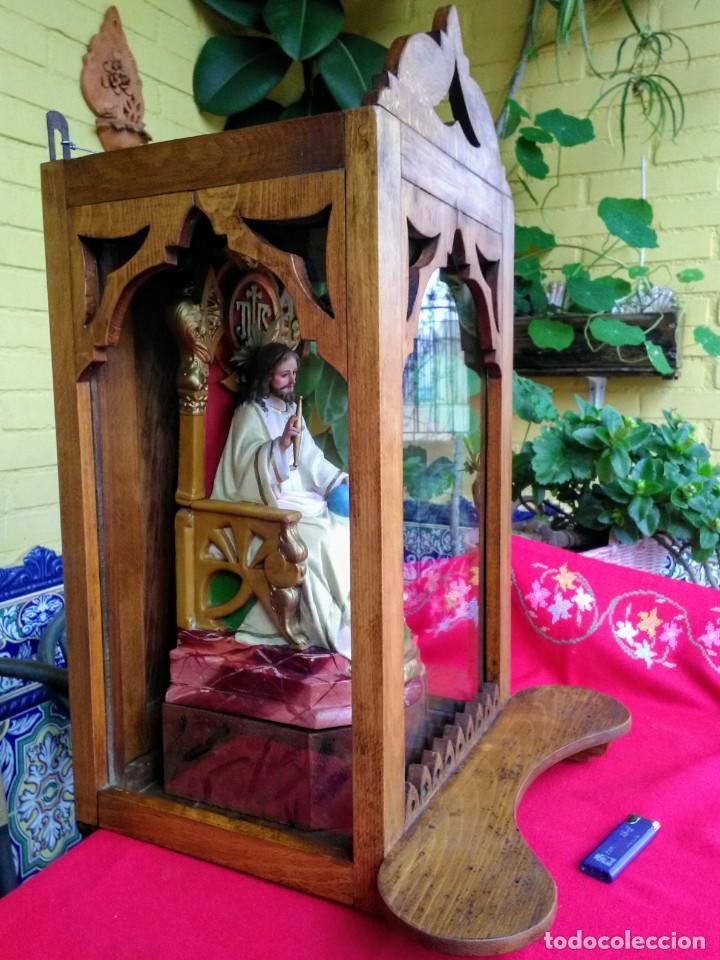 Arte: Capilla antigua con figura del Corazón de Jesús - Foto 2 - 240102360