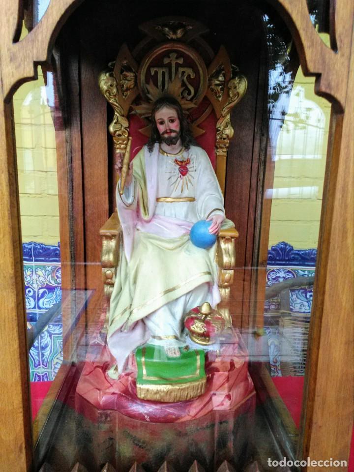 Arte: Capilla antigua con figura del Corazón de Jesús - Foto 3 - 240102360