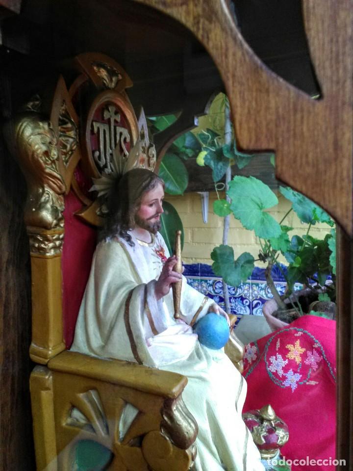 Arte: Capilla antigua con figura del Corazón de Jesús - Foto 4 - 240102360