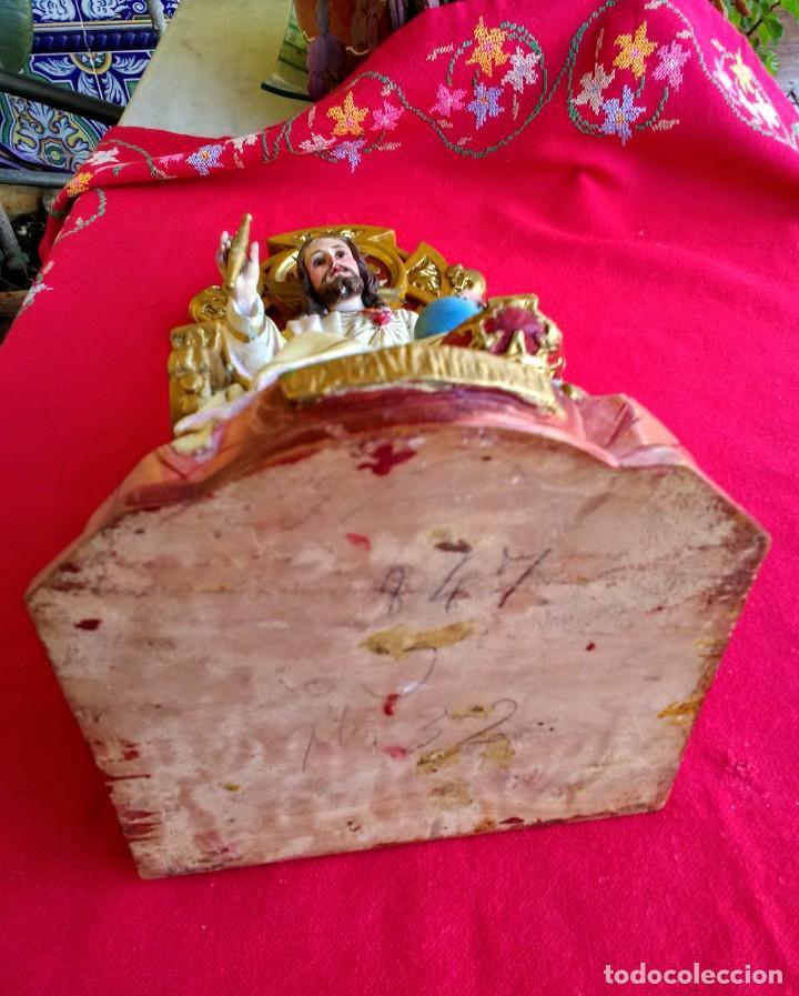 Arte: Capilla antigua con figura del Corazón de Jesús - Foto 15 - 240102360