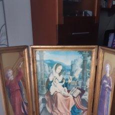 Arte: TRIPTICO RELIGIOSO MADERA. Lote 240250525