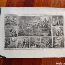 Arte: 6 GRABADOS ED. LEJEUNE IMP. GENY-GROS PARIS CA. 1860. Lote 240630605