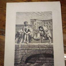 Arte: ANTIGUA BELLA ESTAMPA TIPO GRABADO - SANTA SINFOROSA MARTIR. Lote 240639025