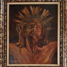 """Arte: ÓLEO SOBRE LIENZO DE F.SALVAGOTRIGO : """" CRISTO DE LIMPIAS """" ( 1972 ). Lote 240697125"""