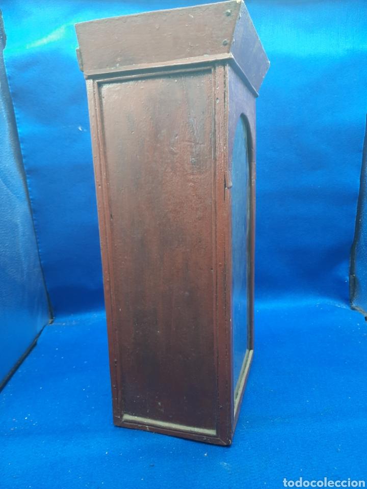 Arte: Antigua imagen religiosa en madera con capilla - Foto 10 - 240735110
