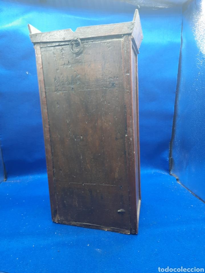 Arte: Antigua imagen religiosa en madera con capilla - Foto 12 - 240735110
