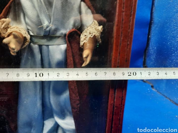 Arte: Antigua imagen religiosa en madera con capilla - Foto 14 - 240735110