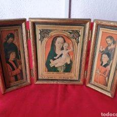 Art: ANTIGUO ICONO TRIPTICO. Lote 240745960