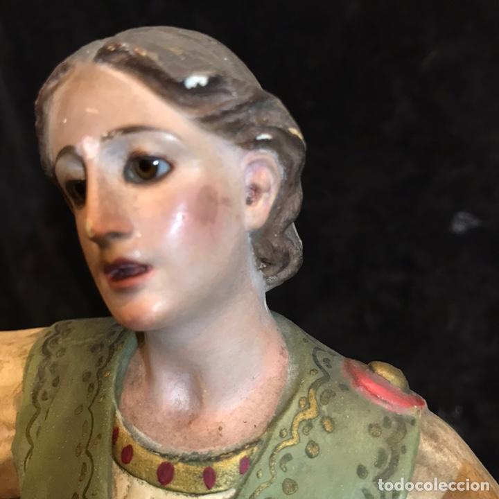Arte: Antiguo san Pancracio de estuco. Ojos de cristal - Foto 5 - 240999940