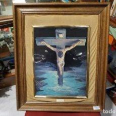 Arte: PRECIOSO CRISTO ESMALTADO - ENMARCADO MADERA - FIRMADO VICENTE ROSO. Lote 241394845