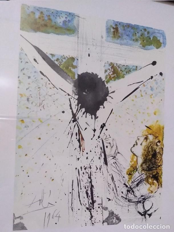 BONITA LITOGRAFIA DE CRISTO DE SALVADOR DALI DE LA BIBLIA SACRA EDICION LIMITADA MARCO INCLUIDO (Arte - Arte Religioso - Litografías)