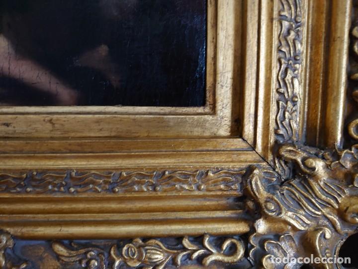 Arte: ÓLEO LIENZO REPRODUCCIÓN MURILLO LOS NIÑOS DE LA CONCHA SIGLO XVIII - Foto 14 - 241449725