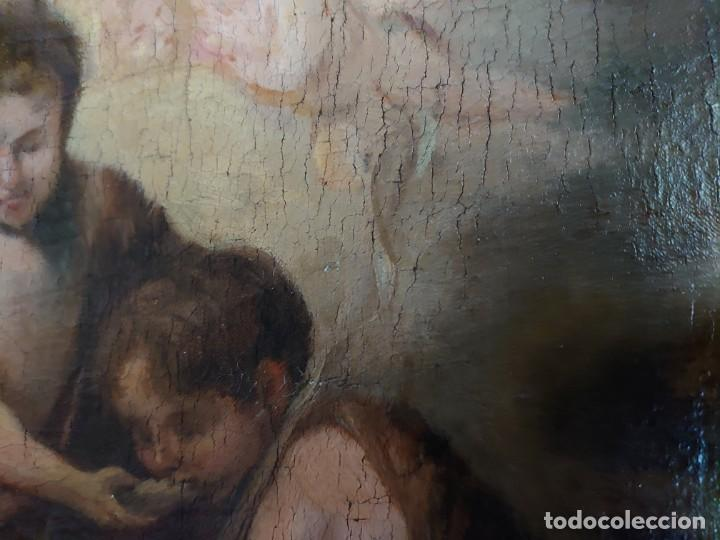 Arte: ÓLEO LIENZO REPRODUCCIÓN MURILLO LOS NIÑOS DE LA CONCHA SIGLO XVIII - Foto 12 - 241449725