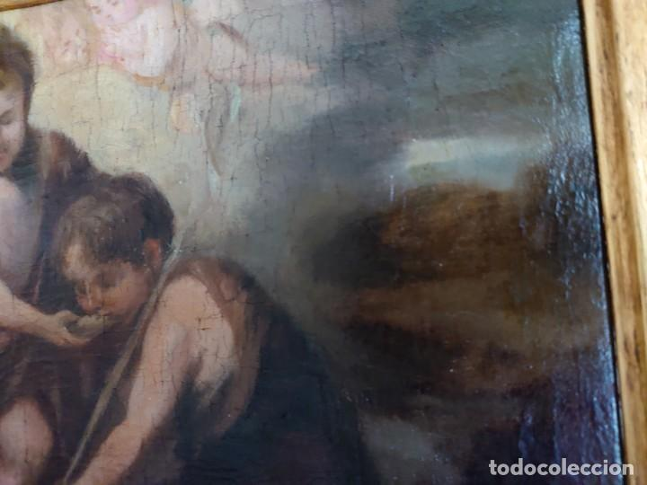 Arte: ÓLEO LIENZO REPRODUCCIÓN MURILLO LOS NIÑOS DE LA CONCHA SIGLO XVIII - Foto 10 - 241449725