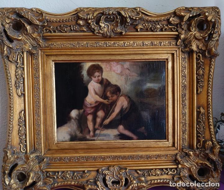 Arte: ÓLEO LIENZO REPRODUCCIÓN MURILLO LOS NIÑOS DE LA CONCHA SIGLO XVIII - Foto 17 - 241449725