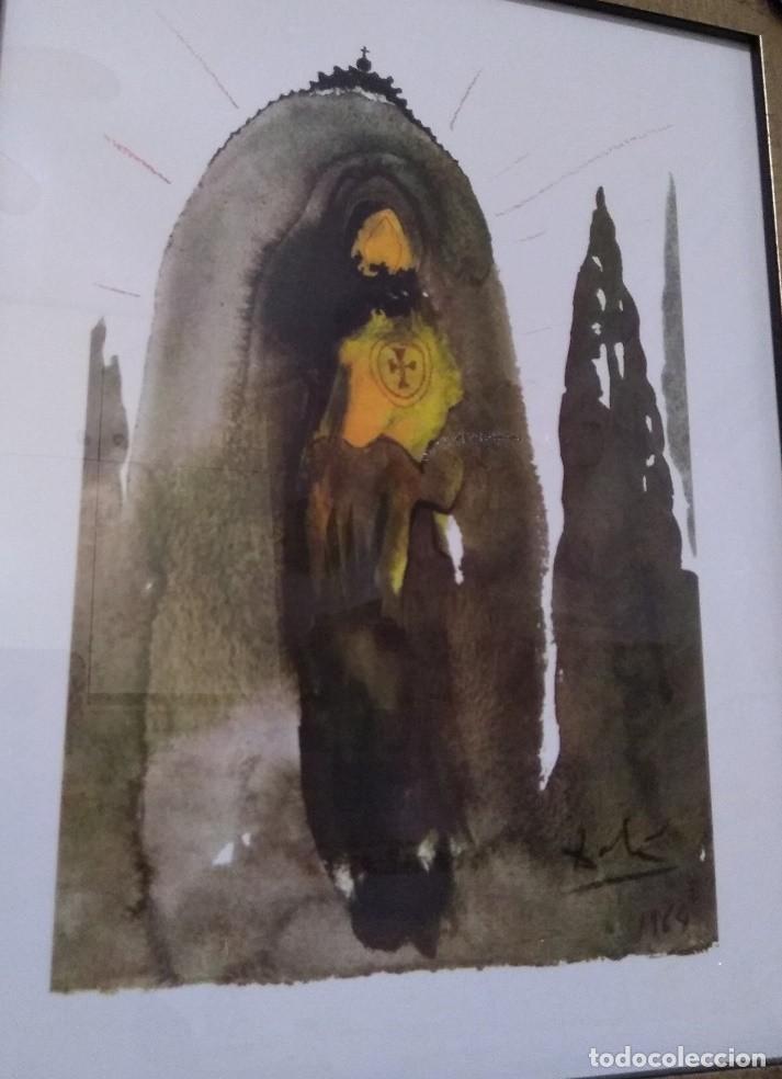 BONITA Y CURIOSA LITOGRAFIA DE SALVADOR DALI DE LA BIBLIA SACRA EDICION LIMITADA (Arte - Arte Religioso - Litografías)