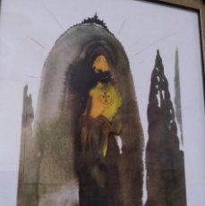Arte: BONITA Y CURIOSA LITOGRAFIA DE SALVADOR DALI DE LA BIBLIA SACRA EDICION LIMITADA. Lote 241725990