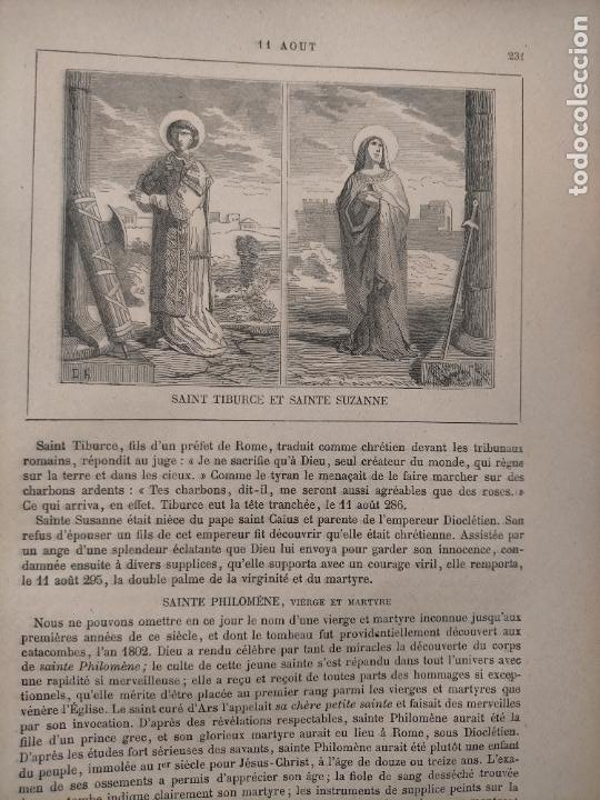 AÑO 1842 ANTIGUO GRABADO ORIGINAL RELIGIOSO SANTORAL - SAINT TIBURCE SAN SANTA SAINTE SUSANA (Arte - Arte Religioso - Grabados)