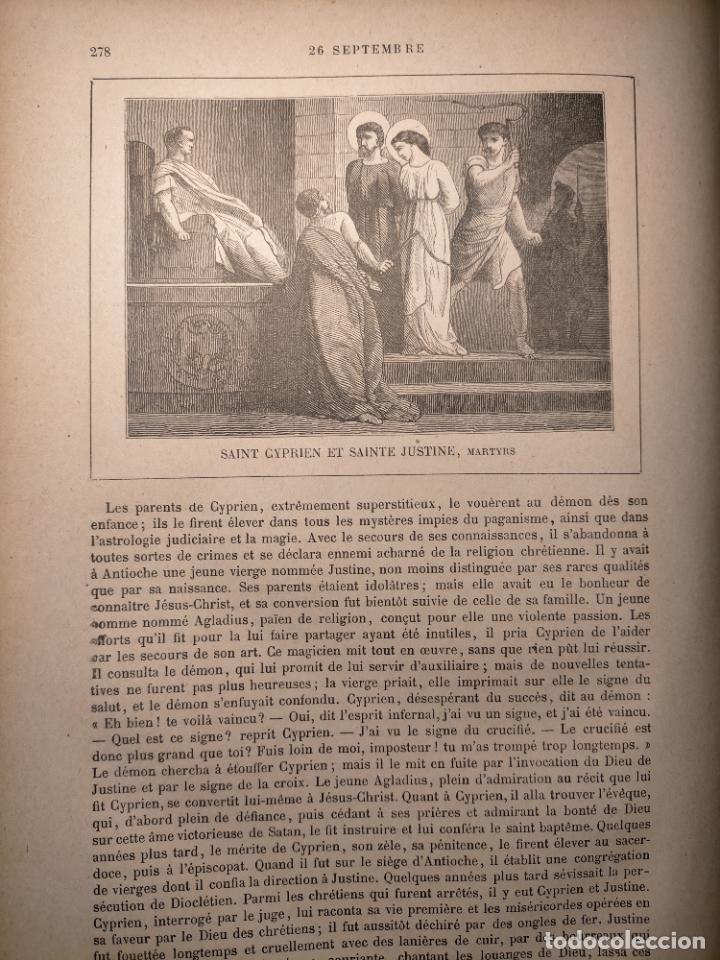 AÑO 1842 ANTIGUO GRABADO ORIGINAL RELIGIOSO SANTORAL - SAINT SAN CYPRIEN JUSTINE CIPRIANO Y JUSTINA (Arte - Arte Religioso - Grabados)