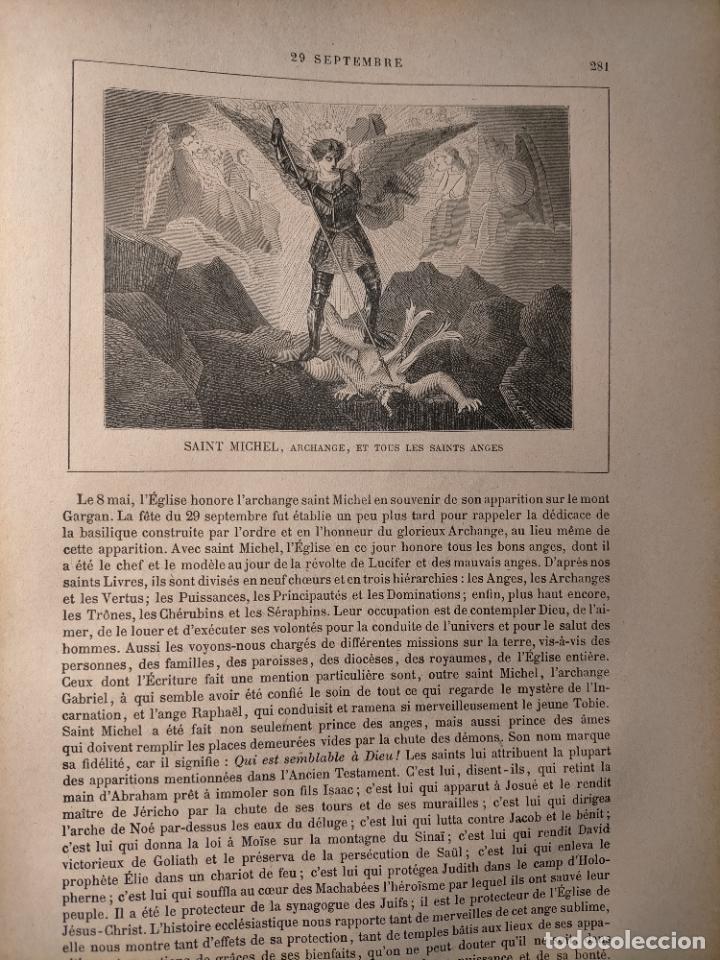 AÑO 1842 ANTIGUO GRABADO ORIGINAL RELIGIOSO SANTORAL - SAINT SAN MICHEL MIGUEL ARCANGEL (Arte - Arte Religioso - Grabados)