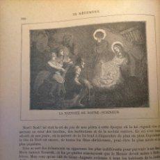 Arte: AÑO 1842 ANTIGUO GRABADO ORIGINAL RELIGIOSO SANTORAL - NAVIDAD NACIMIENTO NIÑO JESUS BELEN VIRGEN. Lote 241799235