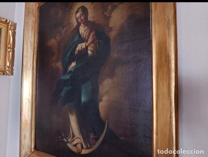 Arte: ÓLEO SOBRE LIENZO INMACULADA CONCEPCIÓN SIGLO XVII - Foto 3 - 188788421