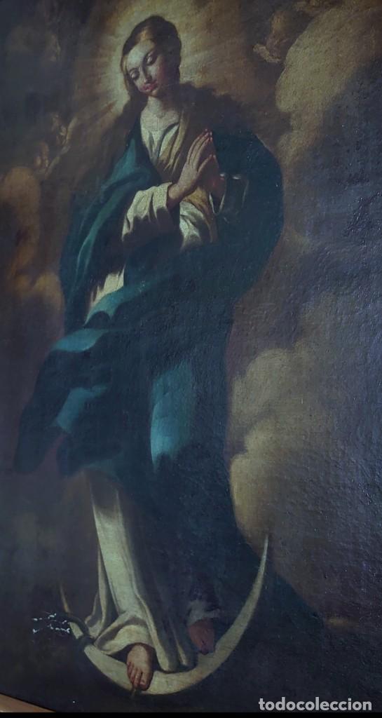 Arte: ÓLEO SOBRE LIENZO INMACULADA CONCEPCIÓN SIGLO XVII - Foto 9 - 188788421