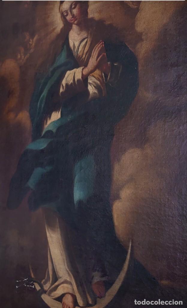 Arte: ÓLEO SOBRE LIENZO INMACULADA CONCEPCIÓN SIGLO XVII - Foto 5 - 188788421