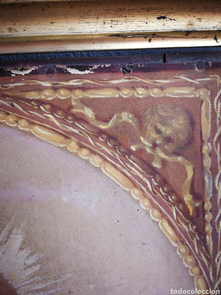 Arte: ANTIGUO ÓLEO SOBRE TELA NIÑO JESÚS (INRI), S.XIX. ENMARCADO, 58X49CM. - Foto 8 - 241886495
