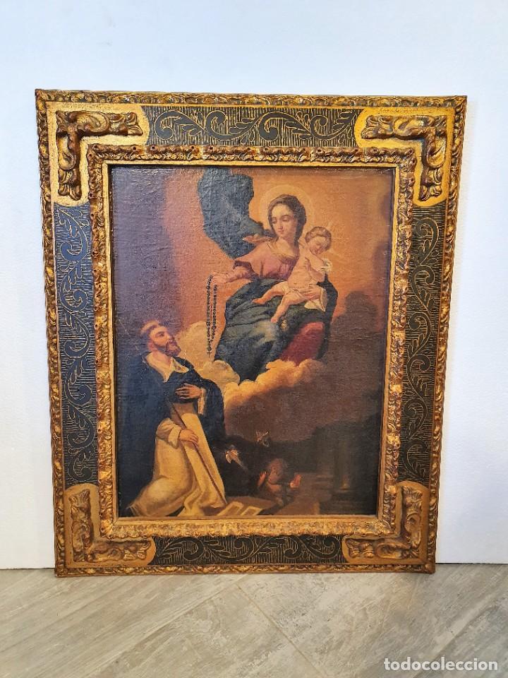 Arte: OLEO RELIGIOSO SOBRE LIENZO - Foto 3 - 242021055