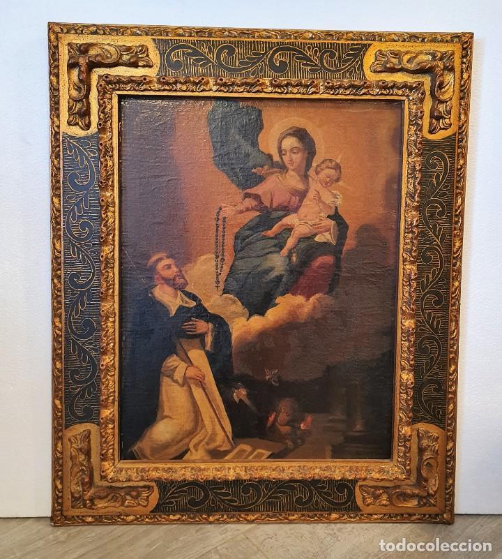 Arte: OLEO RELIGIOSO SOBRE LIENZO - Foto 4 - 242021055