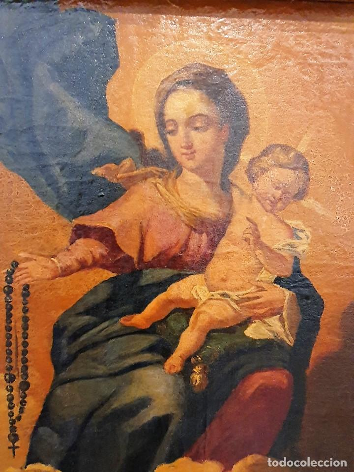 Arte: OLEO RELIGIOSO SOBRE LIENZO - Foto 7 - 242021055