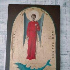 Arte: ARCANGEL SAN RAFAEL ENVIADO DE JEHOVA RETABLO MADERA. Lote 242372220
