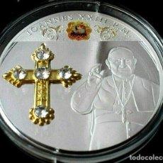 Arte: BONITA MONEDA XXL 70 MM CONMEMORATIVA AL PAPA JUAN XXIII DE LA CIUDAD DEL VATICANO. Lote 242477380