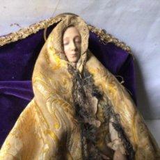 Arte: ANTIGUA VIRGEN DE LA ASUNCION ,TALLA EN MADERA CAP I POTA SIGLO 19 - VIRGEN YACENTE. Lote 243246700