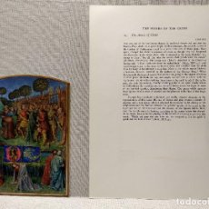 Arte: EL ARRESTO DE CRISTO, MINIATURA Nº 14 DE THE HOURS OF THE ETIENNE CHEVALIER JEAN FOUQUET. Lote 243843060
