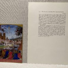 Arte: DESCENSO DEL ESPIRITU SANTO, MINIATURA Nº 23 DE THE HOURS OF THE ETIENNE CHEVALIER JEAN FOUQUET. Lote 243844295