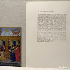 Arte: LA FUENTE DE LOS APOSTOLES, MINIATURA Nº 22 DE THE HOURS OF THE ETIENNE CHEVALIER JEAN FOUQUET. Lote 243845100