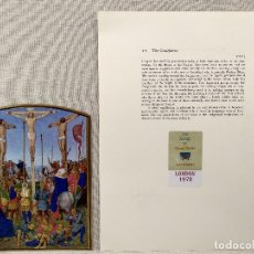 Arte: LA CURXIFICION, MINIATURA Nº 17 DE THE HOURS OF THE ETIENNE CHEVALIER JEAN FOUQUET. Lote 243846055