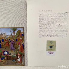 Arte: CAMINO AL CALVARIO, MINIATURA Nº 16 DE THE HOURS OF THE ETIENNE CHEVALIER JEAN FOUQUET. Lote 243846970