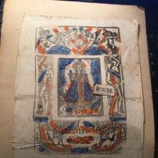 Arte: ANTIGUO GRABADO COLOREADO A LA TREPA - NOSTRA SENYORA DE FUSIMANYA 1861 - 31,5X22 CM.. Lote 243851015