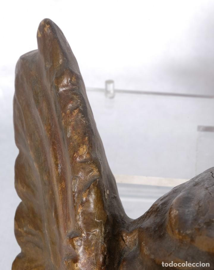 Arte: Cabezas de ángeles barrocos en madera tallada y policromada siglo XVII - Foto 8 - 243865660