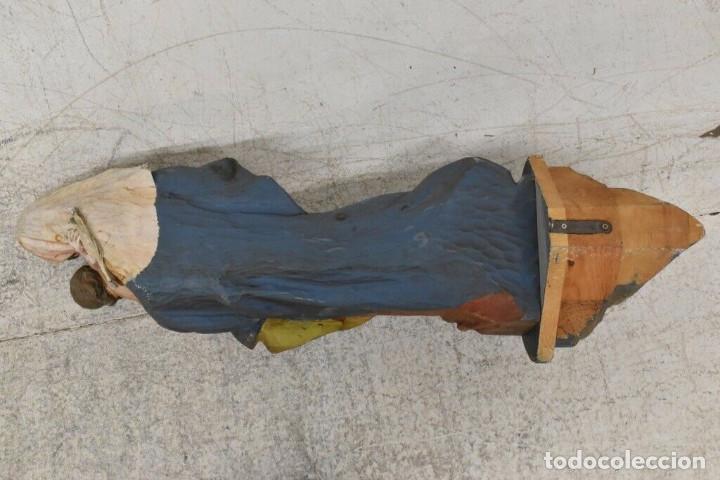 Arte: ENORME MAGNIFICA ANTIGUA GRAN TALLA 116 cm VIRGEN CON NIÑO 16 kg. MENSULA S. XIX 5600,0 Є Ø 40 CM - Foto 12 - 243918280