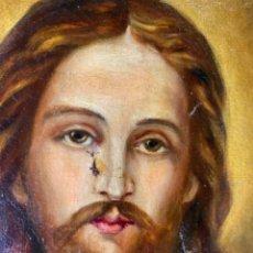 Arte: CUADRO DE CRISTO. SAGRADO CORAZÓN DE JESÚS. S XIX. Lote 243918650