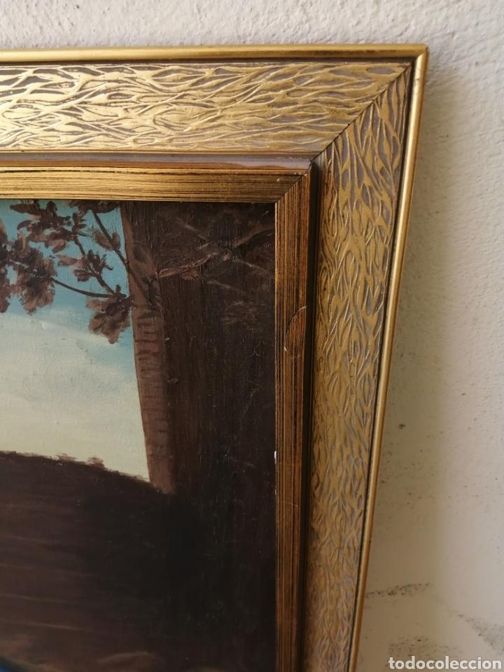 Arte: Precioso cuadro religioso antiguo virgen con niño pintado sobre tela firmado imitació Antonio llegri - Foto 6 - 244184020