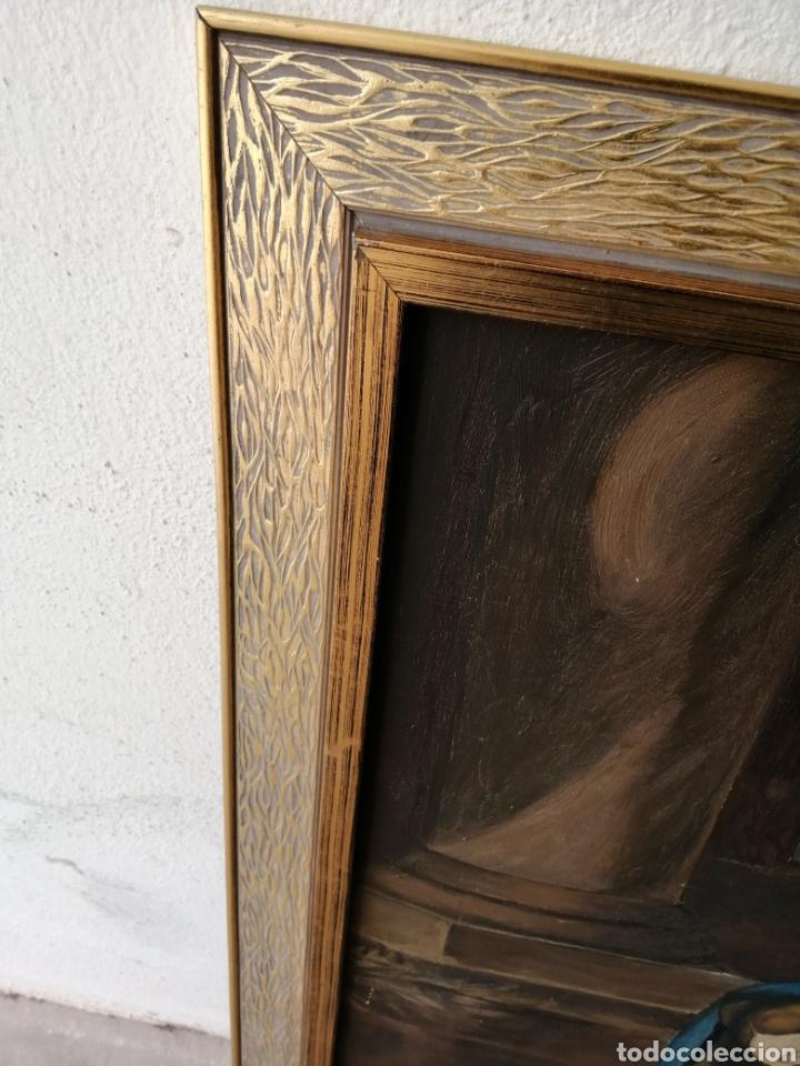 Arte: Precioso cuadro religioso antiguo virgen con niño pintado sobre tela firmado imitació Antonio llegri - Foto 7 - 244184020