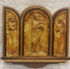 Arte: TRIPTICO RELIGIOSO ALABASTRO. Lote 244196995