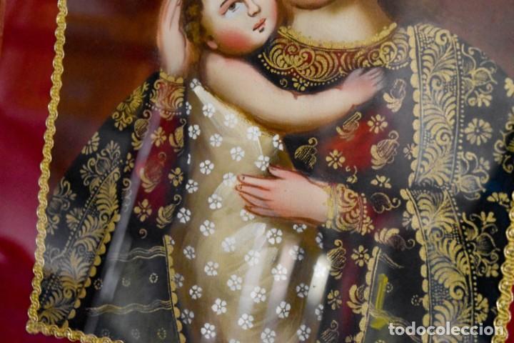 Arte: Espléndido cuadro de pintura cuzqueña con remate en hilo de oro - Foto 6 - 244230975