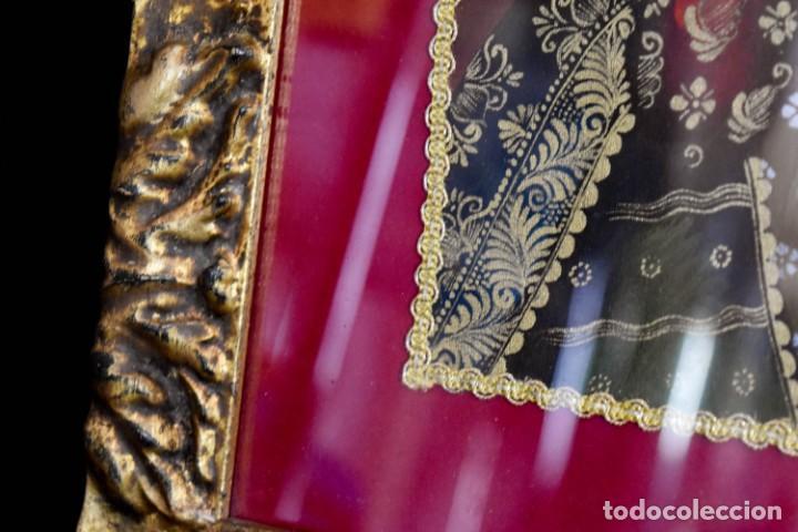 Arte: Espléndido cuadro de pintura cuzqueña con remate en hilo de oro - Foto 8 - 244230975